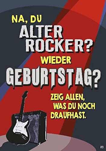 Musikkarten mit Sound Überraschung 020c Alter Rocker