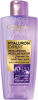 L'Oreal Paris Hyaluron Expert Replumping Micellar Water Makeup Remover with Hyaluronic Acid, 200 ml
