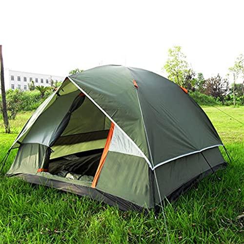 YSJJYQZ Tienda de campaña Campaña Tienda de campaña de Playa Abierta Camping al Aire Libre 3-4 Persona Cortavientos Dual Capa Impermeable Barraca de acampamento Tente De Camping (Color : 390 Green)