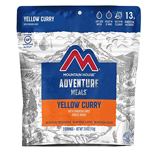Mountain House Yellow Curry with Chicken & Rice | Freeze Dried Backpacking & Camping Food | 2 Servings