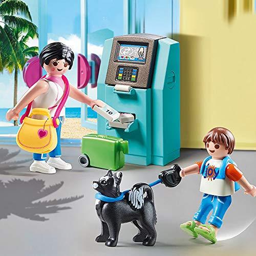 Turistas sacando dinero del cajero Playmobil - Family Fun (70439)