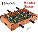 Brand Conquer Table- Portable Fully Wooden Mini Table Football / Soccer Game Set