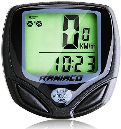 Raniaco - Velocímetro inalámbrico para bicicleta, diseño de bicicleta con cuentakilómetros y función multifunción, paquete de producto premium, sin pilas, ideal para motociclistas, hombres, mujeres y adolescentes