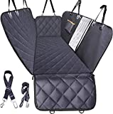 Dog Car Seat Cover for Back Seat, Waterproof Dogs Hammock with Mesh Window and Pet Seat Belt, Back Seat Protector for Cars, Trucks, SUVs, Jeep