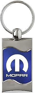 Mopar Blue Spun Brushed Metal Key Ring