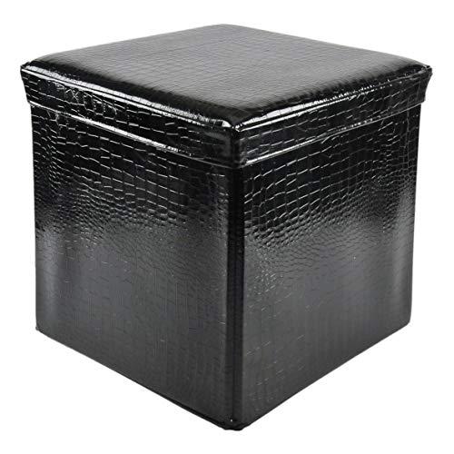 AD TREND 'Sitzsack klappbar aus Kunstleder Relax schwarz cm. 40x 40x H. cm. 40