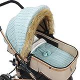 Tabpole Baby-Autositzbezug & Schlafsack-Set, Säugling Baby Kinderwagen Abdeckung Schlafsack-Set Neugeborene Säugling Autositz Baldachin Kinderwagen Wrap für Baby Mädchen Jungen