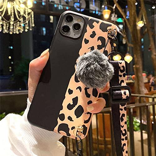 Collar con Estampado de Leopardo, Correa, cordón, Cadena, Caja del teléfono para iPhone 12 11 Pro MAX 12 Mini 11Pro 7 8 6 Plus XS MAX XR X IMD, T1, para iPhone 8 Plus