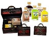 Lote de 7 Packs de 2 Botellas de Licores la Rivera (A Elegir) en Baúles de Madera Clásicos. Regalos Originales. Detalles de Bodas, Bautizos, Comuniones y Eventos. DC (SURTIDOS)