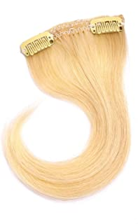 Ty.Hermenlisa 100% Natural Remy Human Hair Colorful Clip in Hair Bang Extensions Fringe Hairpieces for Cosplay,1Pc,Nordic Blonde(#6.4.21)