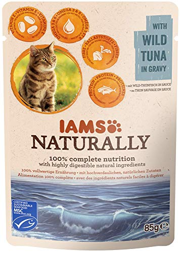 IAMS Naturally Pochon Thon en Sauce pour Chat 85g,