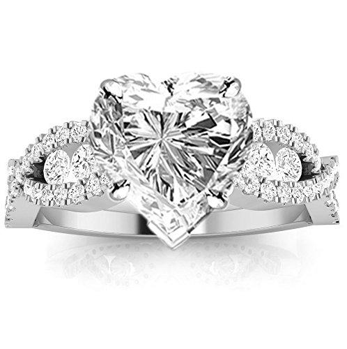 1.14 Ct Heart Diamond - 5
