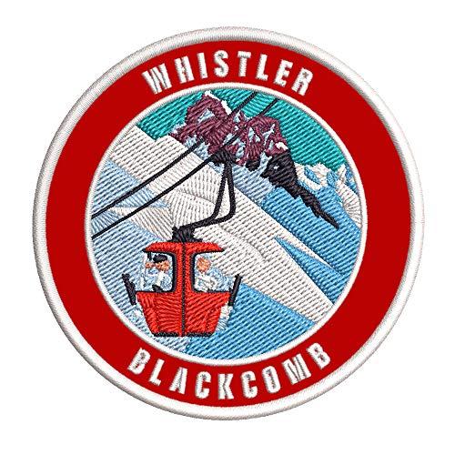 Whistler Blackcomb, British Columbia Ski Restort Mountain Embroidered...