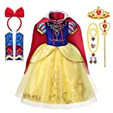DOCHEER Little Girls Princess Costume Fancy Queen Dress Up Cosplay Party Dresses