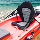 JAYEGT Kayak Seat Padded Deluxe High Back Canoe Seat with Back Support Adjustable Fishing Seat for Universal Sit with Detachable Kayak Backrest