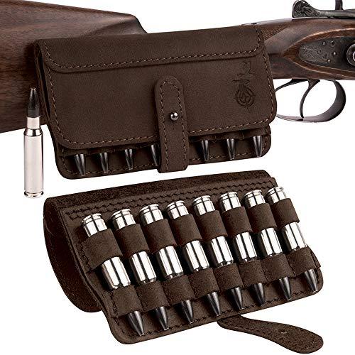 BRONZEDOG Leather Cartridge Case Shell Holder for...