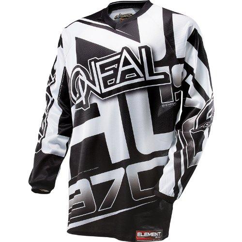 O'Neal Element Limited Edition - Maglietta a Maniche Corte, Taglia M, Colore: Nero/Bianco
