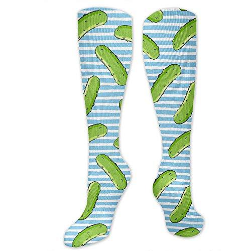 Zome Lag Kniekousen, Kniehoge Team Tube sokken, herensokken, reiskousen, steunkousen, komkommers strepen mannen tennisokken, cosplay sokken, vrouwen vakantie sokken