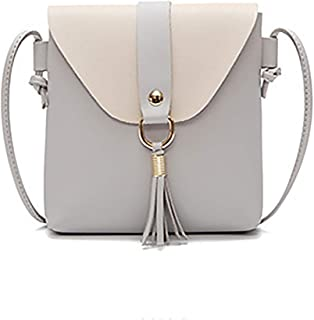 YXHM AU New Fringed Small Square Bag Liu Ding Single Shoulder Diagonal Small Bag (Color : Gray)