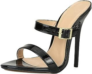 Women's Men's Slide Mules Sandals Strap Stiletto High Heels