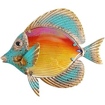MONTEMAGGI Quadro in Metallo 3D Pesce Tropicale 49x34x4 cm Variante Unica
