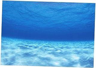 Flameer PVC 3D Single Side Adhesive Background Fish Tank Picture for Aquarium Decor - 61x30cm