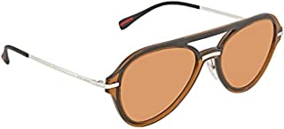 Prada Linea Rossa Sunglasses For Men, Orange PS04TS FKS1J257 65 mm