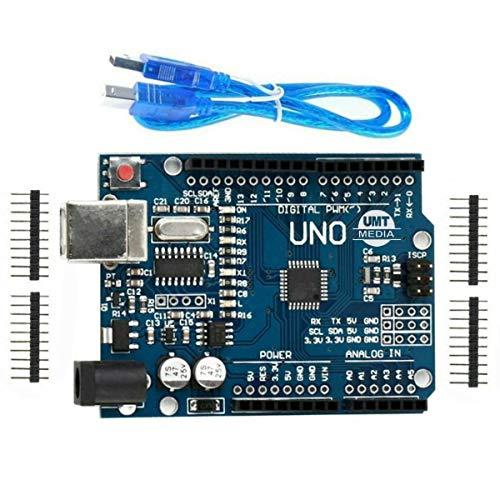 UMTMedia (Arduino Uno - Compatible Board) R3 Rev3 ATMEGA328P - FREE USB CABLE for Arduino Uno