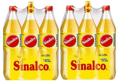 12 Flaschen Sinalco Orange a 1,25 L inc. EINWEG Pfand