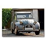 CALVENDO Toile Textile de qualité supérieure - 90 x 60 cm - Motif Canard - Citroën 2CV - Tableau sur châssis - Image sur Toile véritable Portes Avant (Technologie Technologie
