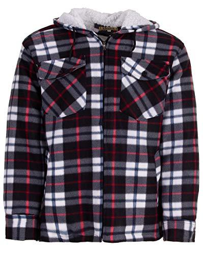 Hoang Textil GmbH Thermohemd Arbeitsjacke Herren Holzfäller Wärmeisolierend, Farbe:grau, Größe:XL