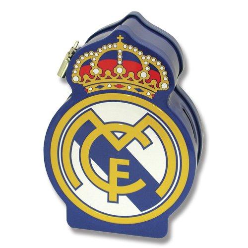 Real Madrid-HM-20-RM Real Madrid Hucha metal escudo 18x13x6cm, Multicolor, 15x10x10 cm (CYP Imports HM-20-RM
