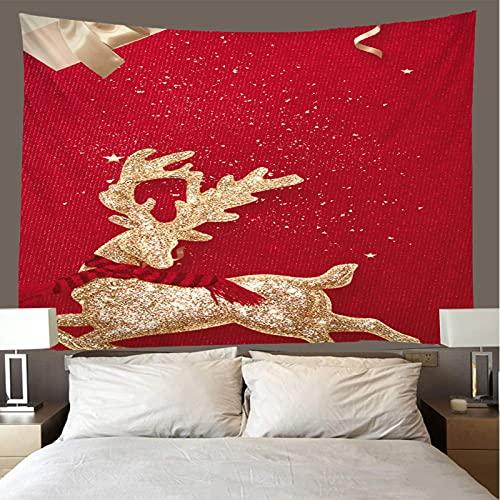 binghongcha Christmas Deer Tapestry 260X300Cm Mandala Tapestries Yoga Mat Beach Towel Blanket,Picnic Beach Sheet, Table Cloth, Boho,Decorative Wall Hanging A2528