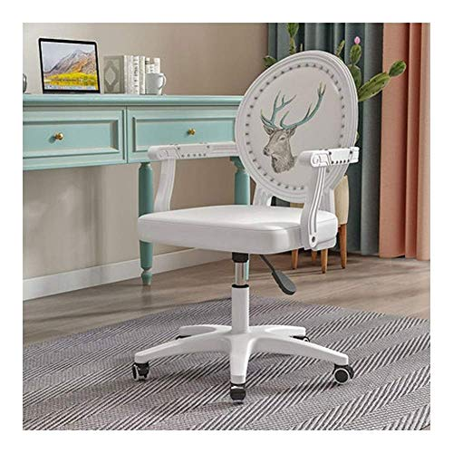 N/Z Daily Equipment Beauty Chair Barber Chair Comfy Fabric Computer Chair Adjustable Height Office Chair Swivel Chair Home/Office Furniture (Color : 3)