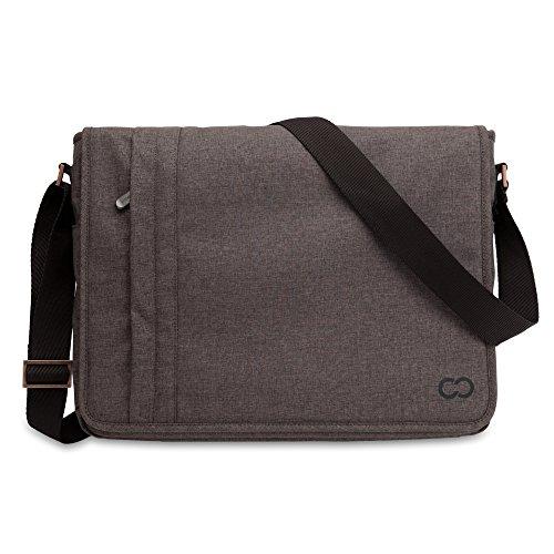 CaseCrown Campus Horizontal Messenger Bag (Brown) for 13 Inch Laptops