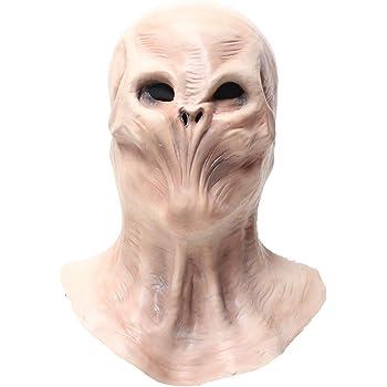 Alien Head Mask for Adult and Kids-Halloween Costume Realistic Alien Mask-Latex Full Head Masks