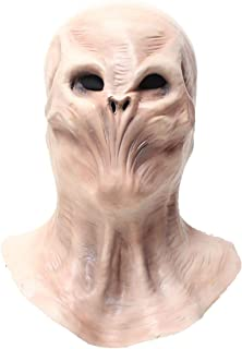 Alien Head Mask for Adult and Kids-Halloween Costume Realistic Alien Mask-Latex Full Head Masks Khaki