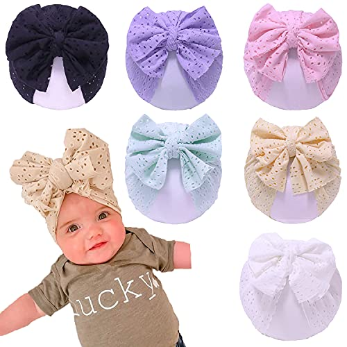 Hifot Sombrero Turbante Bebe Suave Gorra Beanie Turbante Nudo Gorra Diadema para Recién Nacidos Infántil Niñas