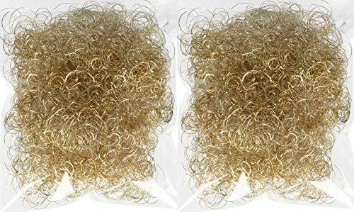 Novaliv Engelshaar Gold I Weihnachtsdeko I 30gr Lametta Hair zum Basteln Baumschmuck Weihnachten Engelshaar gelockt