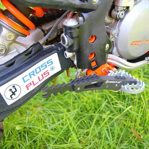 Cross Plus Fußraste Sozius Schwarz EXC XC SMR 02-16 SX 02-15 HQV 14-16 Husa 03-