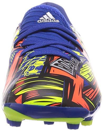 adidas Nemeziz Messi 19.3 MG J, Zapatillas de fútbol, AZUREA/Plamet/Amasol, 38 2/3 EU