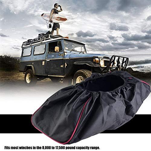 liyuyangxbb Cubierta del cabrestante Impermeable para el automóvil Cubierta de cabrestante Impermeable y Antipolvo Negra 8000-17500 lbs Capacidad de Remolque SUV Tela Oxford