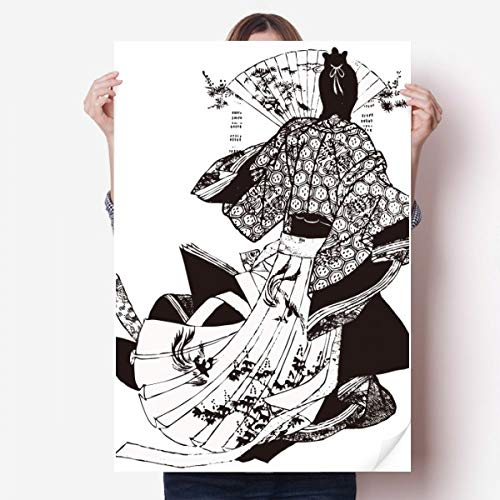 DIYthinker Japan Traditionele Cultuur Kimono Vinyl Muursticker Poster Fotobehang Kamer Decal 80X55Cm
