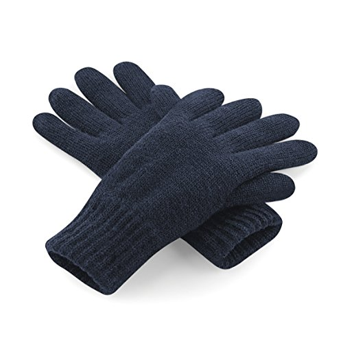 Beechfield Unisex Classic Thinsulate Thermo Winter-Handschuhe, French Navy, Large / X-Large