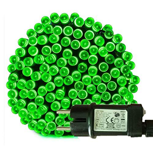 Tuokay, Luci da Fata con Spina Europea, 23m 200 LED 8 Modalità Scintillanti, Luci da Interno, Luci Decorative di Natale per Albero di Natale, Gazebo, Patio, Recinto, Ornamento Nuziale (Verde)