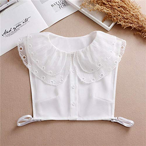 Falscher Kragen mit Punkten, Fliege, falsche Kragen, für Damen, halbe Hemd, Chiffon,...