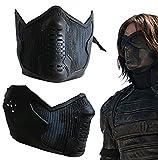 Winter Soldier Bucky Barnes James Buchanan Cosplay Prop Latex Mask Black