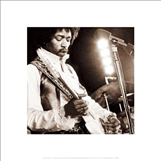Beyond The Wall Jimi Hendrix Guiitar Close Up Psychedelic Classic Rock Music Poster Print (16x16 UNFRAMED Poster)