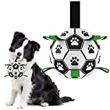 Dog Ball Dog Soccer Ball with Grab Tabs Interactive Dog Toys Herding Ball for Dogs Rubber Ball Dog Balls for Small & Medium Dogs Jolly Balls for Dogs