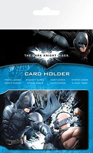 1art1 Batman, The Dark Knight Rises, Battle Porte-Carte Bancaire pour Fans (10x7 cm) + 1x Sticker Surprise